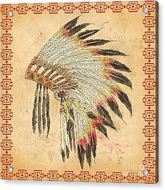 Indian Head Dress-a Acrylic Print