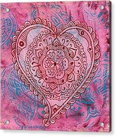 Indian Heart Acrylic Print