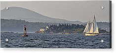 Acrylic Print featuring the photograph Indian Island Lighthouse - Rockport - Maine by Marty Saccone