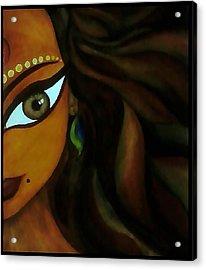 Indian Lady  Acrylic Print by Sivaanan Balachandran