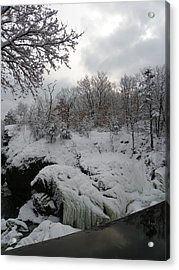 Indian Leap In Winter Acrylic Print