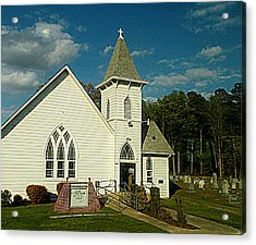 Indian Mission United Methodist Church Harbeson Delaware Acrylic Print by Pamela Hyde Wilson
