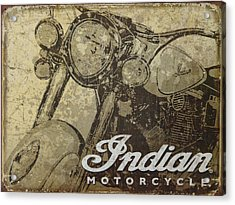 Indian Motorcycle Poster Acrylic Print