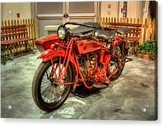 Indian Motorcycle With Sidecar Acrylic Print