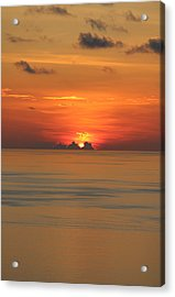 Acrylic Print featuring the photograph Indian Ocean Sunset  by Debbie Cundy