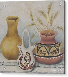 Indian Pots Acrylic Print by Summer Celeste