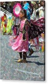 Indian Princess Dancer Acrylic Print by Kathleen Struckle