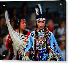 Indian Princess Acrylic Print by Scarlett Images Photography