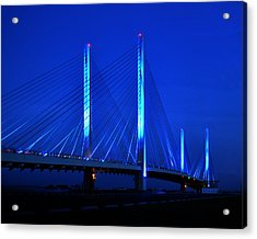 Indian River Bridge At Night Acrylic Print