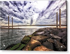 Indian River Bridge Clouds Acrylic Print