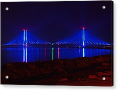 Indian River Inlet Bridge After Dark Acrylic Print