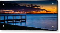 Indian Shores Dusk Acrylic Print