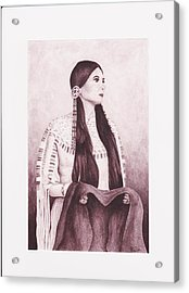 Indian Sioux Maiden Acrylic Print by Billie Bowles