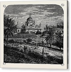 Indian Sketches The Tomb Of Runjeet Singh Acrylic Print