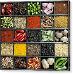 Indian Spice Grid Acrylic Print