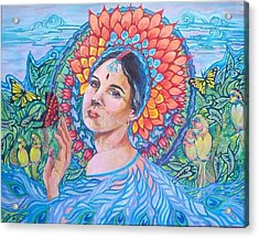 Acrylic Print featuring the painting Indian Spring by Suzanne Silvir