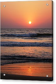 Indian Sunset Acrylic Print by Ilse Maria Gibson
