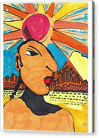 Acrylic Print featuring the drawing Indian Sunshine by Don Koester