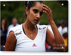 Indian Tennis Player Sania Mirza Acrylic Print by Nishanth Gopinathan