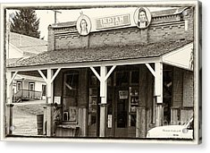 Indian Trading Post Virginia City Montana 02 Acrylic Print by Thomas Woolworth