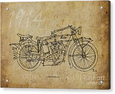 Indian V-twin 1914 Acrylic Print by Pablo Franchi