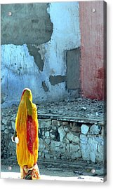 Indian Woman Acrylic Print by Arie Arik Chen
