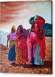 Indian Women Acrylic Print