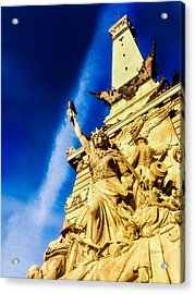 Indiana Civil War Monument Acrylic Print by Jon Woodhams