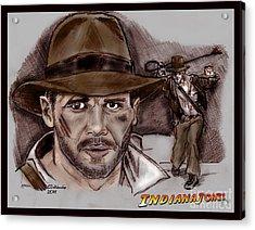 Indiana Jones Acrylic Print by Chris  DelVecchio