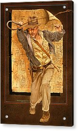 Indiana Jones Acrylic Print by Timothy Scoggins