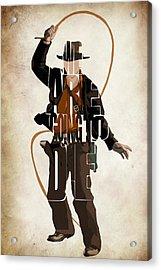 Indiana Jones Vol 2 - Harrison Ford Acrylic Print by Ayse Deniz