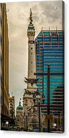 Indiana - Monument Circle With State Capital Building Acrylic Print
