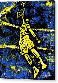 Indiana Pacers Acrylic Print by Alys Caviness-Gober