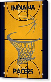 Indiana Pacers Court Acrylic Print by Joe Hamilton