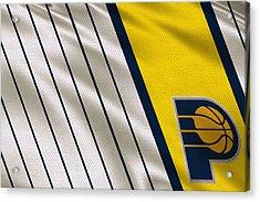 Indiana Pacers Uniform Acrylic Print by Joe Hamilton