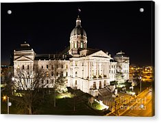 Indiana State Capitol Building Acrylic Print by Twenty Two North Photography