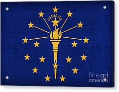 Indiana State Flag Acrylic Print by Pixel Chimp