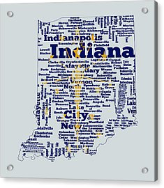 Indiana State Flag Word Cloud Acrylic Print