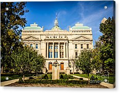 Indiana Statehouse State Capital Building Picture Acrylic Print
