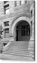 Indiana University Maxwell Hall Entrance Acrylic Print by University Icons