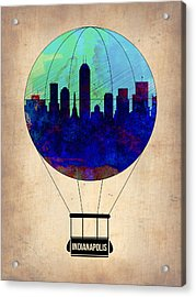 Indianapolis Air Balloon Acrylic Print by Naxart Studio
