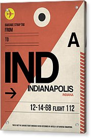 Indianapolis Airport Poster 1 Acrylic Print by Naxart Studio