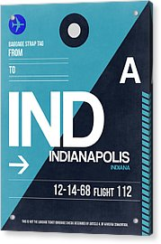 Indianapolis Airport Poster 2 Acrylic Print by Naxart Studio