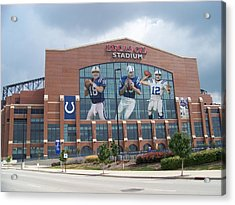 Indianapolis Colts Lucas Oil Stadium Acrylic Print by Joe Hamilton