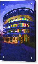 Indianapolis Indiana Museum Of Art Painted Digitally Acrylic Print by David Haskett