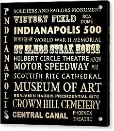 Indianapolis Famous Landmarks Acrylic Print