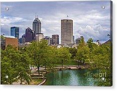 Indianapolis Indiana Skyline 1000 Acrylic Print
