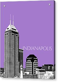 Indianapolis Indiana Skyline - Violet Acrylic Print by DB Artist