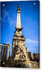Indianapolis Indiana Soldiers And Sailors Monument Picture Acrylic Print by Paul Velgos