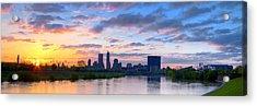 Indianapolis Indiana Sunrise Panoramic Hdr Acrylic Print